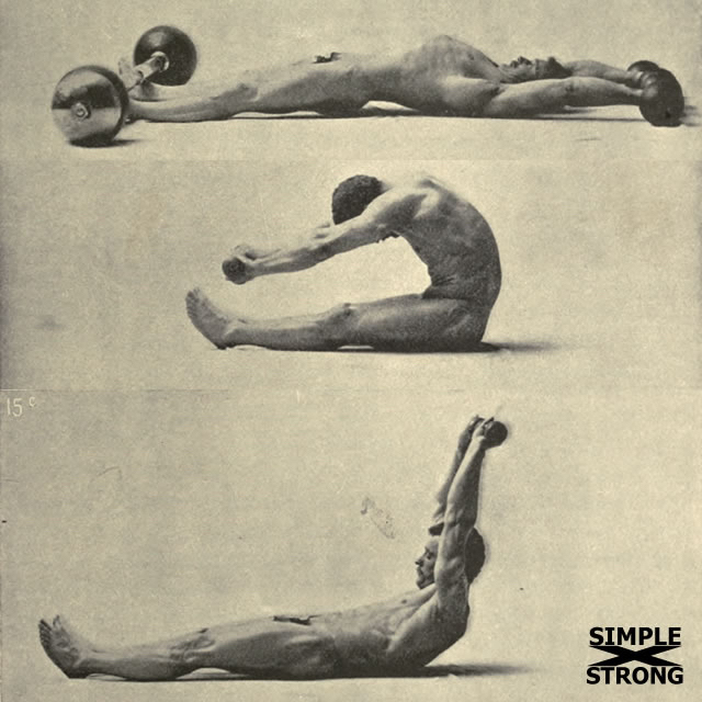 Sandow's Straight Leg Situp: Oldschool Low Rep Abdominal Exercise