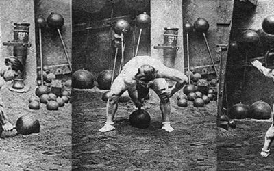 Legendary Old-Time Strongmen: Ernest Cadine Swings 198,42 Lbs. Dumbbell