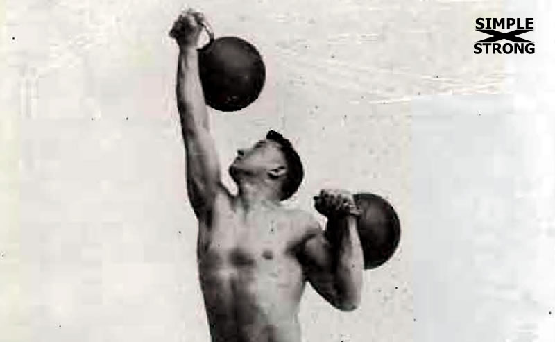 Chest-Expanding and Shoulder Developing Exercise With a Pair of Kettle-Bells (1924)