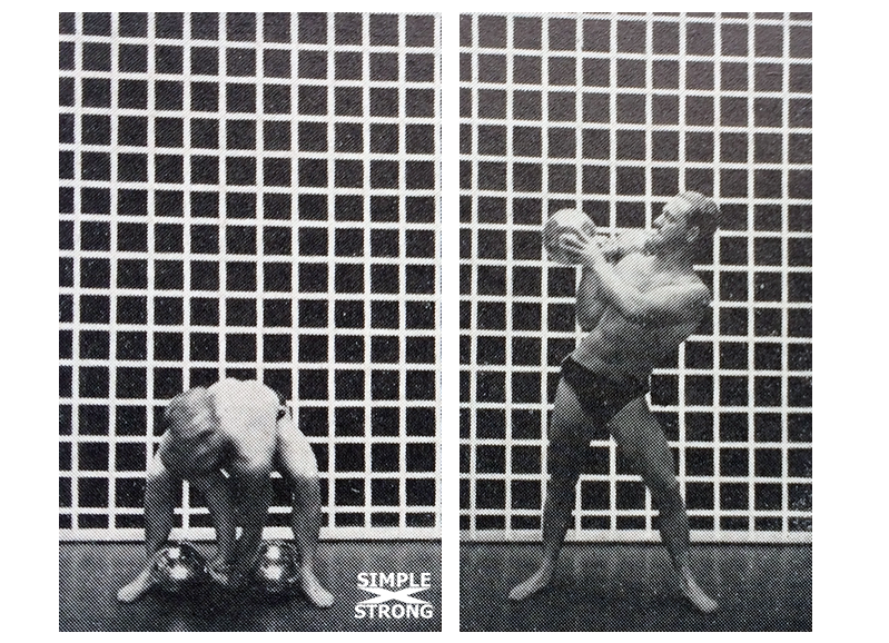 Siegmund Klein Teaches the Dumbbell Bent Press (1938)