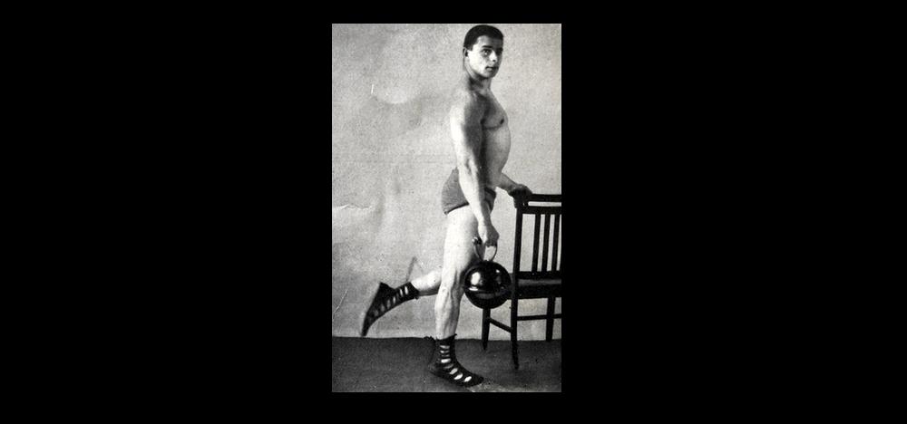 Siegmund Klein's Super Physique (1943): Kettlebell Calf Raises