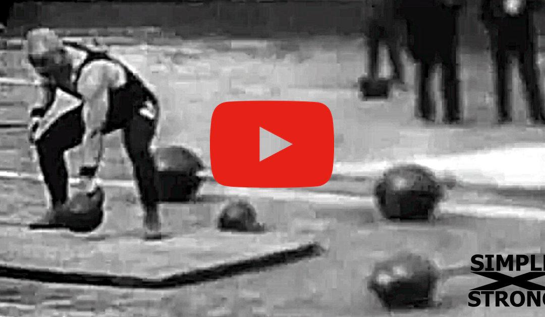 Barbell & Kettlebell Lifting at the 1913 Olympics - RARE VIDEO