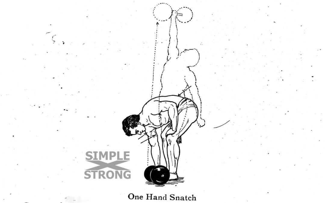 George Hackenschmidt: One Hand Dumbbel Snatch 1908